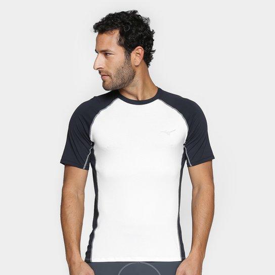 0c4c3fd03a37d Camiseta Mizuno Run Pro Com Proteção UV Masculina - Branco e Preto ...