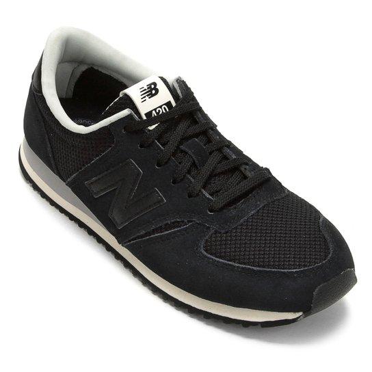 e224c8c3da5 Tênis Couro New Balance 420 Feminino - Branco e Preto - Compre Agora ...