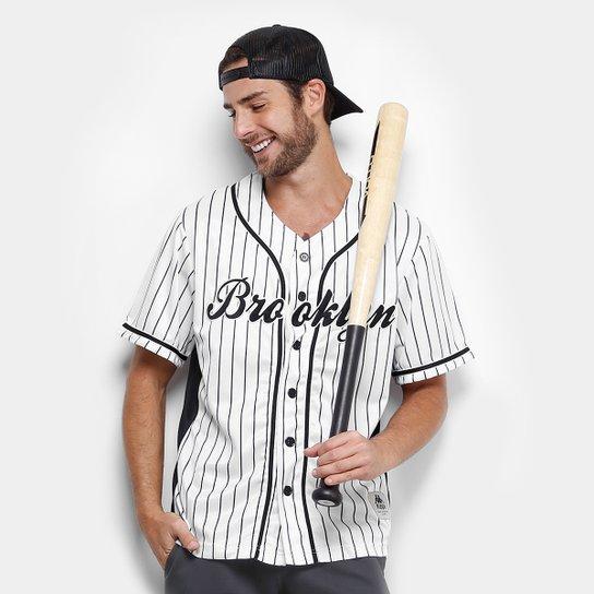 3cfc93d0e Camisa Baseball Kappa Brooklyn 17 Masculina - Compre Agora