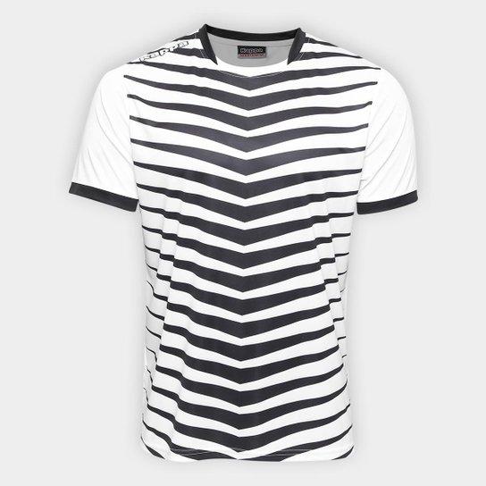 Camisa Kappa Brush 17 Masculina - Branco e Preto - Compre Agora ... dbf165cadafe0