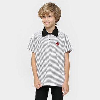 66929e73b5 Camisa Polo Juvenil Vasco Fio Tinto