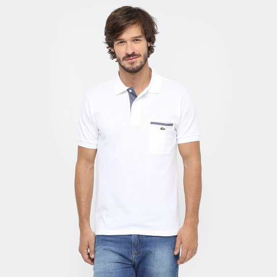 b843806839 Camisa Polo Lacoste Original Fit Bolso - Compre Agora