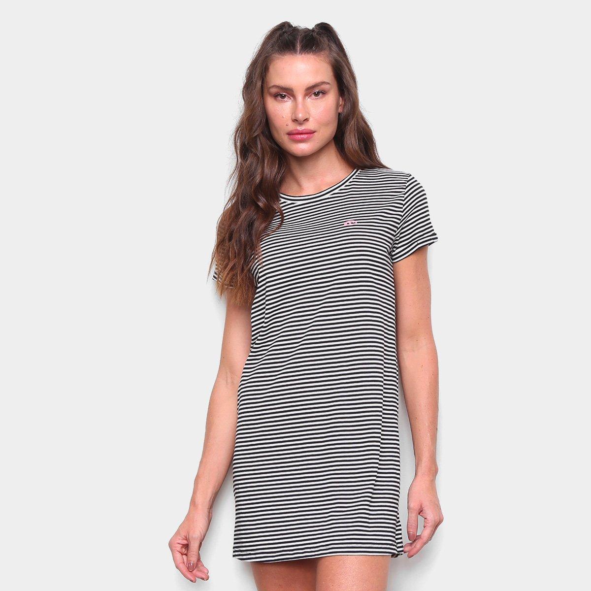 Vestido Rip Curl Curto Camisetão Essentials Dress