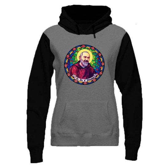 Blusa Moletom Padre Pio - Compre Agora  03e19aeb5b2