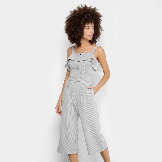 67ff2913c Macacão Pantacourt Lily Fashion Listrado Feminino - Compre Agora ...