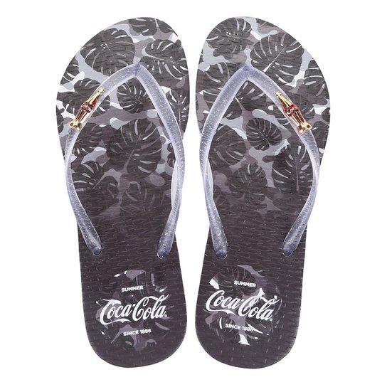 6a3a54595741d Chinelo Coca Cola Tropic Camo Feminino - Compre Agora