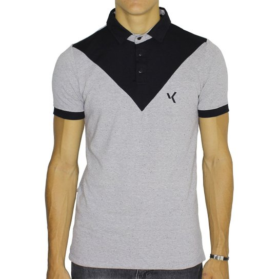 4288370c52 Camisa Polo Vk By Vk Chambray Geométrica Masculina - Compre Agora ...