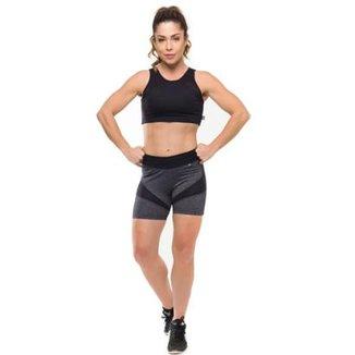 bdbf4f064 Conjunto Basic Power Gym Short Top Com Proteção Solar Sandy Fitness -  Feminino