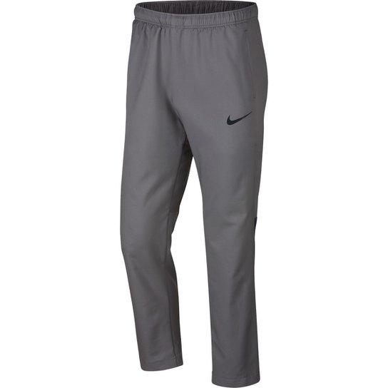 Calça Nike Dry Team Woven Masculina - Cinza e Preto - Compre Agora ... 980727e3cb408
