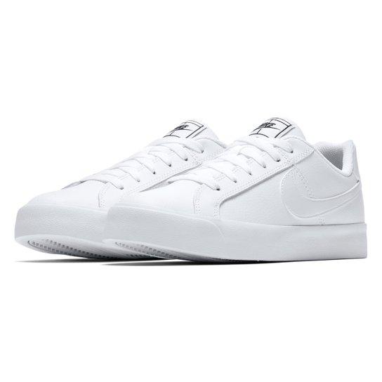 e46ea6f5a0 Tênis Nike Court Royale Feminino - Branco e Preto - Compre Agora ...