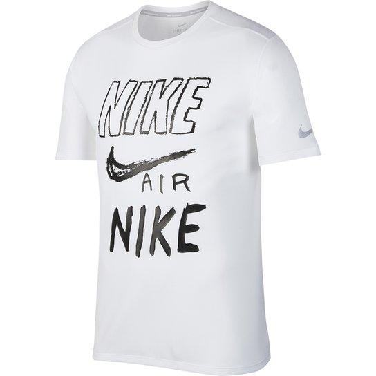 6282527244 Camiseta Nike Brthe Run Gx Masculina - Branco e Preto - Compre Agora ...