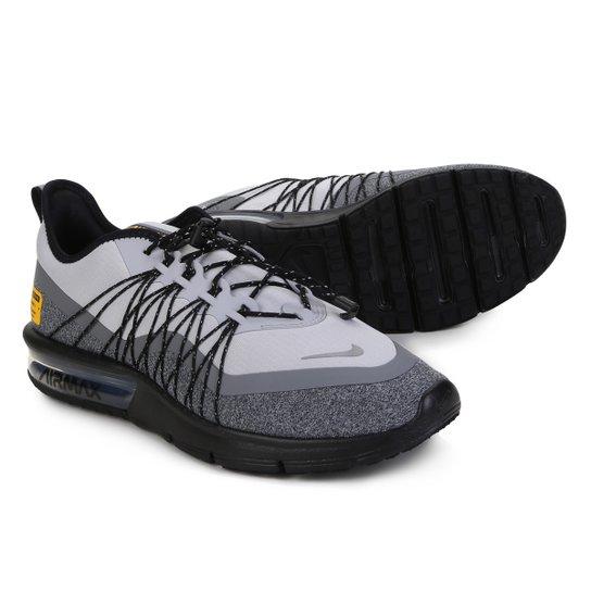 82ddc0f1347 Tênis Nike Air Max Sequent 4 Utility Masculino - Cinza e Preto ...
