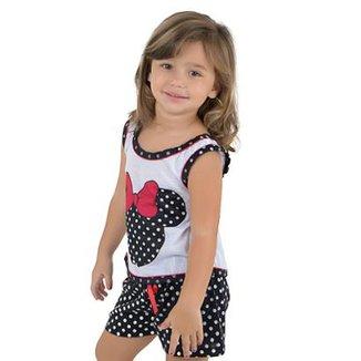 c7a57a596 Baby Doll de Malha Infantil Linha Noite Feminina
