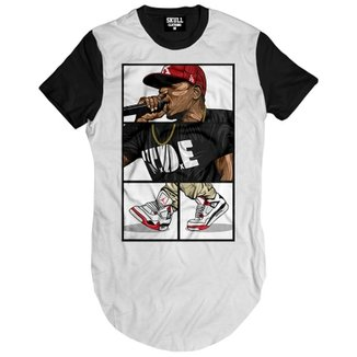 f3b9828c0 Camiseta Skull Clothing Longline Kendrick Lamar Sing Masculina