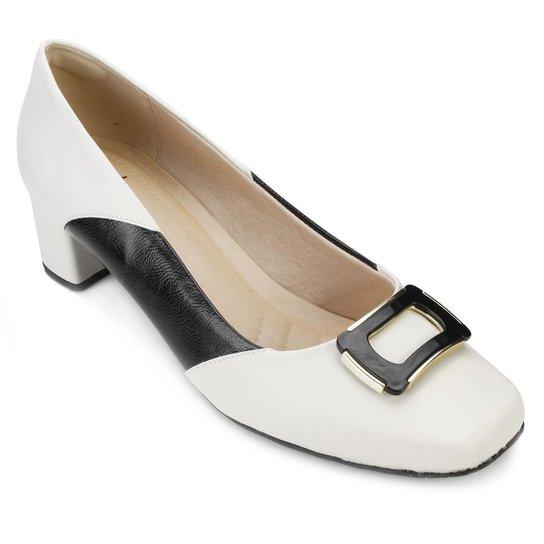 9c960cad0a Scarpin Lady Queen Feminino - Branco e Preto - Compre Agora