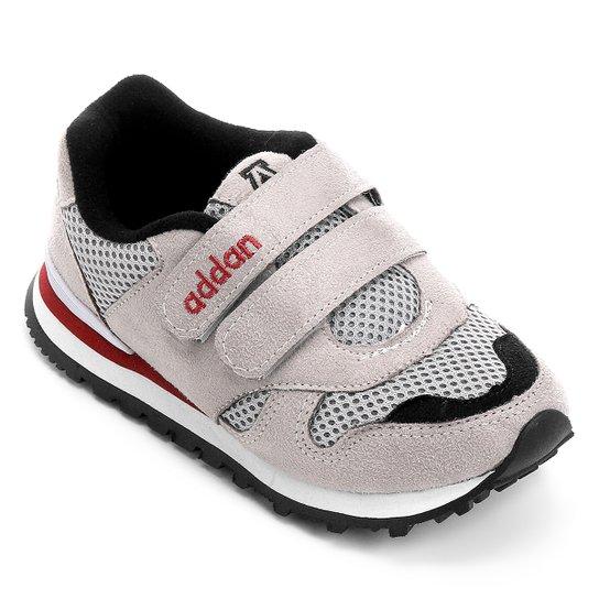 0082722a49d7c Tênis Infantil Addan Velcro - Cinza e Preto - Compre Agora   Zattini