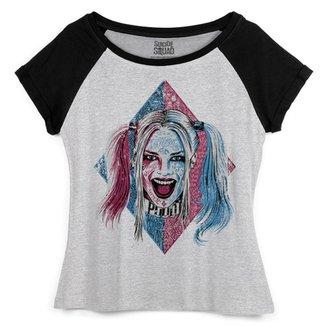 6898f1f087 Camiseta DC Comics bandUP! Raglan Esquadrão Suicida Harley Quinn Puddin
