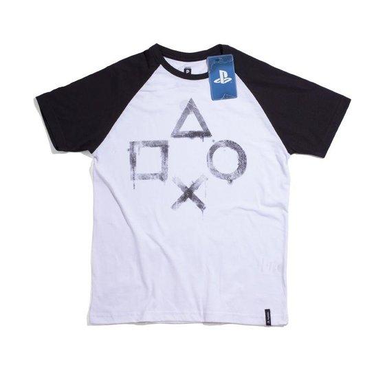 692fd1a3f6895 Camiseta Playstation Street Art - Branco e Preto - Compre Agora ...