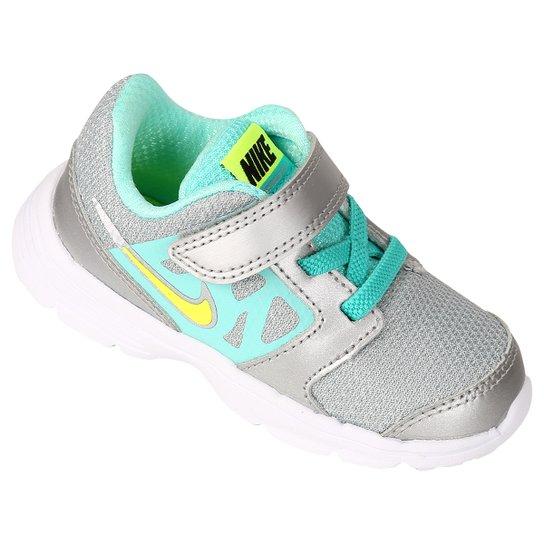 Tênis Nike Downshifter 6 Infantil - Prata+Verde água 05bd4744130b8