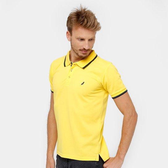 6a204818a8 Camisa Polo Blue Bay Piquet Frisos Masculina - Amarelo