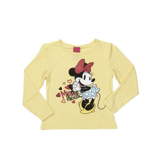 42d506afc Camiseta Manga Longa Infantil Minnie Disney Feminina - Compre Agora ...