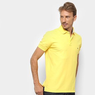 a6c67b979e Camisa Polo Tommy Hilfiger Detalhe Bordado Regular Masculina