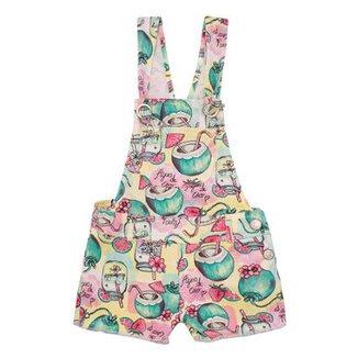 d23192333 Jardineira Infantil Coconut Momi Feminina