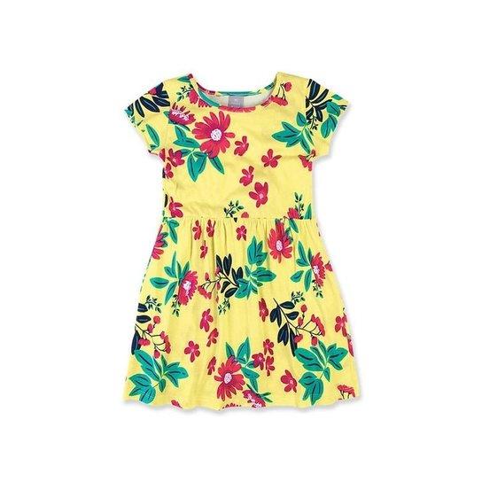 807c0085f Vestido Infantil Hering Kids 5a6l1den - Amarelo - Compre Agora