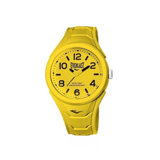 c67221c71b4 Relógio Pulso Everlast Shape Caixa Abs Revestido Silicone - Amarelo ...
