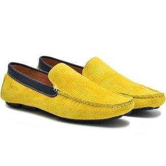 926b79997 Mocassim Couro Sartre Amarelo Masculino