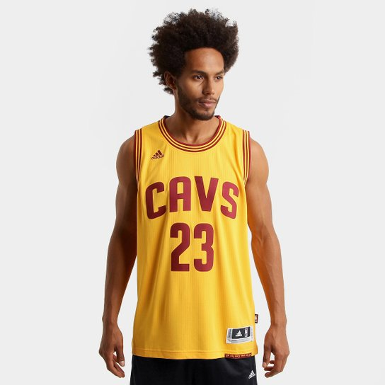 334c3badf5 Camiseta Regata NBA Adidas Swingman Cleveland Cavaliers - James - Amarelo