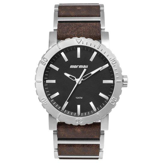 c3ee950ab53 Relógio Mormaii Analógico MO2035II-0P Masculino - Prata e Preto ...