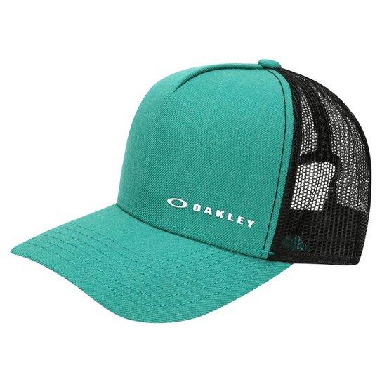 Boné Oakley Aba Curva Mod Chalten Cap Masculino - Verde e Preto ... 5a44c990469