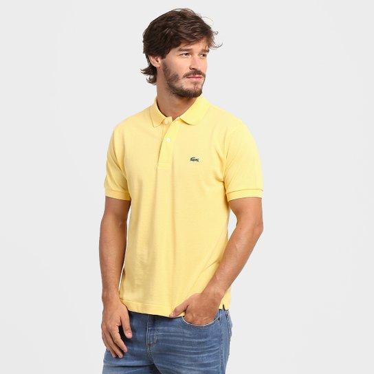 48b486a1eab Camisa Polo Lacoste Original Fit Masculina - Amarelo - Compre Agora ...