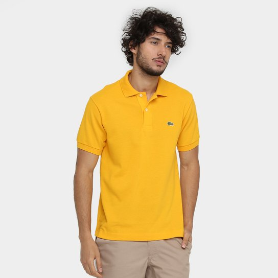 ee5a59de3f9 Camisa Polo Lacoste Piquet Original Fit Masculina - Amarelo - Compre ...