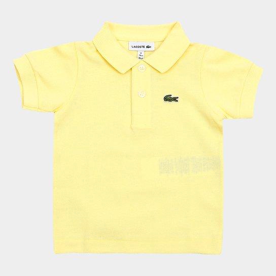 6719b2a55de Camisa Polo Infantil Lacoste Masculina - Amarelo - Compre Agora ...
