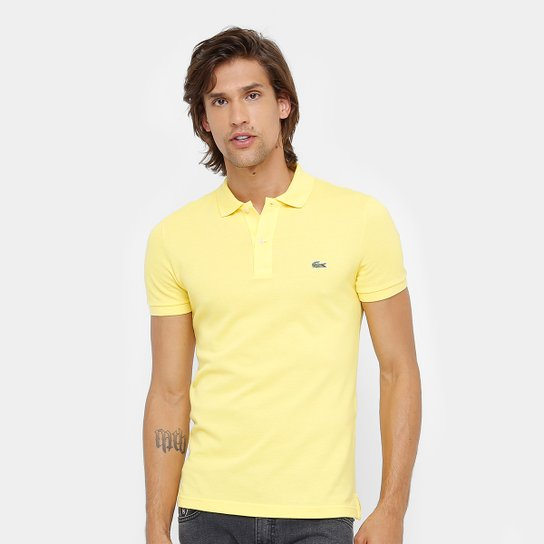 6f36dba15de Camisa Polo Lacoste Piquet Slim Fit Masculina - Compre Agora