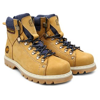 4ede22898 Bota Couro Coturno West Coast Worker Classic Masculina