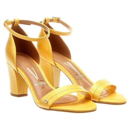 7f61d77574 Sandália Vizzano Salto Grosso - Amarelo