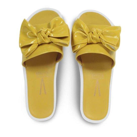 d0f5e37a3 Chinelo Slide Vizzano Verniz Glam Laço Feminino - Amarelo - Compre ...