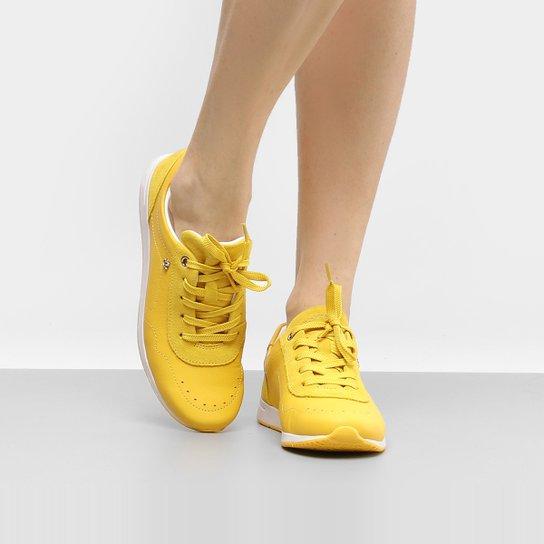 407c67df2 Tênis Couro Cravo   Canela Jogging Feminino - Amarelo - Compre Agora ...