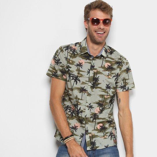 Camisa Colcci Manga Curta Estampada Masculina - Compre Agora  a34b800b6ed33