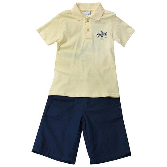 49d2c58d56 Conjunto Camiseta e Bermuda - Amarelo - Compre Agora