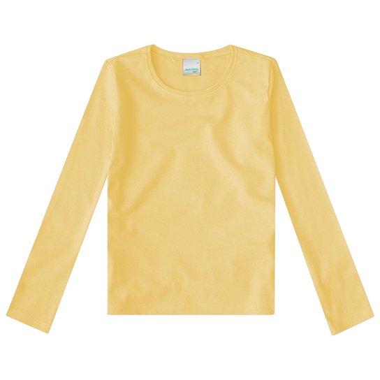 Camiseta Manga Longa Infantil Malha Malwee Feminina - Compre Agora ... 67d261fb58
