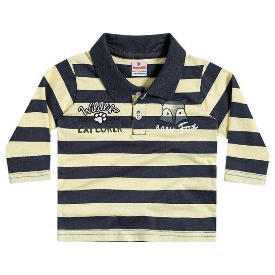 Camiseta Manga Longa Infantil Brandili Listrada Masculino - Compre ... 168179b25a