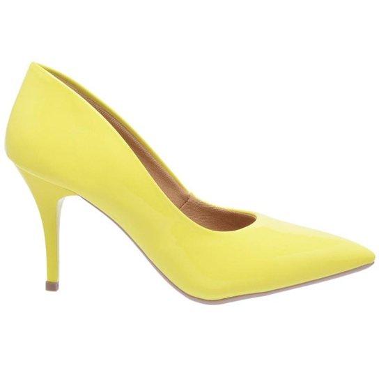 bf8970206 Scarpin Salto Médio Fino 7,5 cm Verniz Di Scarp - Amarelo | Zattini