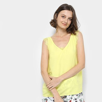 f0a9cd9d47 Regata Lily Fashion Renda Feminina