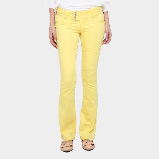 4fb57fa5e Calça Flare Holin Sarja Color Feminina - Compre Agora