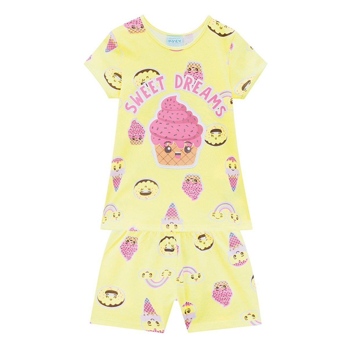Pijama Infantil Kyly Sweet Dreams Brilha no Escuro Feminino