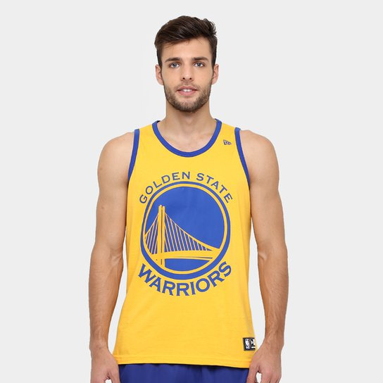 Camiseta Regata New Era NBA Basic Logo Golden State Warriors - Amarelo 24bf20fcf779a
